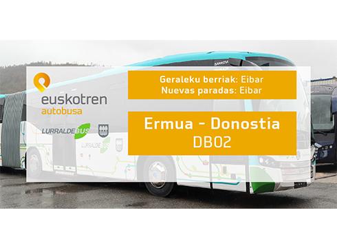 Bi geltoki berri Ermua-Donostia autobus zerbitzuan