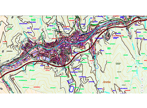 Eibarko mugak xehetasunez jasotzen duen mapa toponimikoa eskuragarri ipini dute