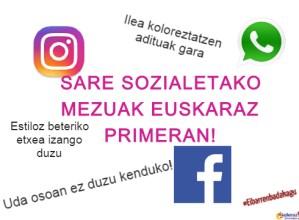 Sare sozialetako mezuak Euskeraz Primeran!