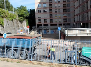 Urkizutik Bittor Sarasketarako sarbidea itxi dute asfaltatze-lanak egiteko