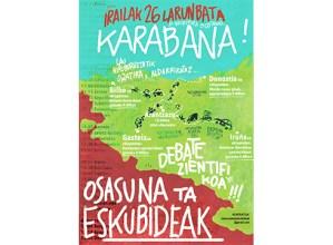 'Osasuna eta eskubideak' taldeak antolatutako karabana Eibartik pasako da zapatuan