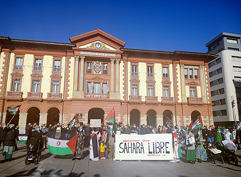 Sahara askatzeko eta autodeterminazio erreferenduma antolatzeko kontzentrazioa egin zen zapatuan