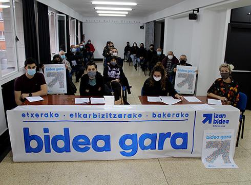 """Urtarrilaren 9an Untzagan egingo da Eibarko Sarek deitutako mobilizazioa, """"Bidea gara"""" goiburuari jarraituta"""
