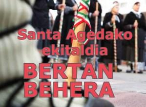 Santa Agedako ekitaldia bertan behera utzi du …eta kittok!-k