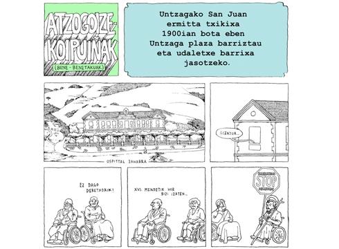 [EGO IBARRA] Untzagako San Juan ermita txikia 1900ean bota zuten Untzaga plaza berritu eta udaletxe berria jasotzeko