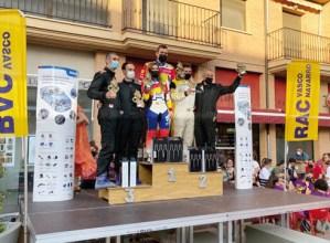 Escuderia Eibarko Narbaiza eta Etxeberria Murtxanteko Rallyaren podiumean