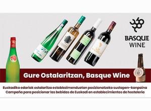 """""""Gure Ostalaritzan, Basque Wine"""" programa ipiniko dute martxan bertoko edariak sustatzeko"""