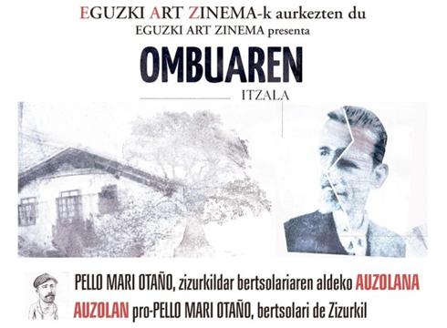 'Ombuaren itzala' pelikularen proiektua aurkeztuko dute bihar Kultun