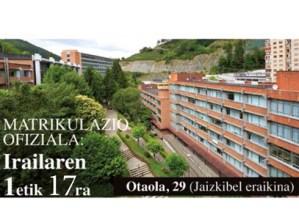 Irailaren 17an amaituko da matrikulazio epea Eibarko Hizkuntza Eskolan