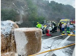 Hiru lagun hil dira AP-1 errepidean Soraluze inguruan izandako auto istripuan