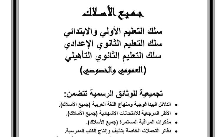 تجميع للنصوص التنظيمية المعتمدة لتدريس اللغة العربية من الأولي إلى الثانوي: خصوصي وعمومي