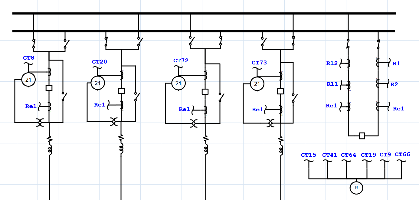 hight resolution of transmission system one line diagram showing a double bus configuration