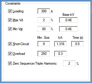 Cable sizing software also calculation etap rh