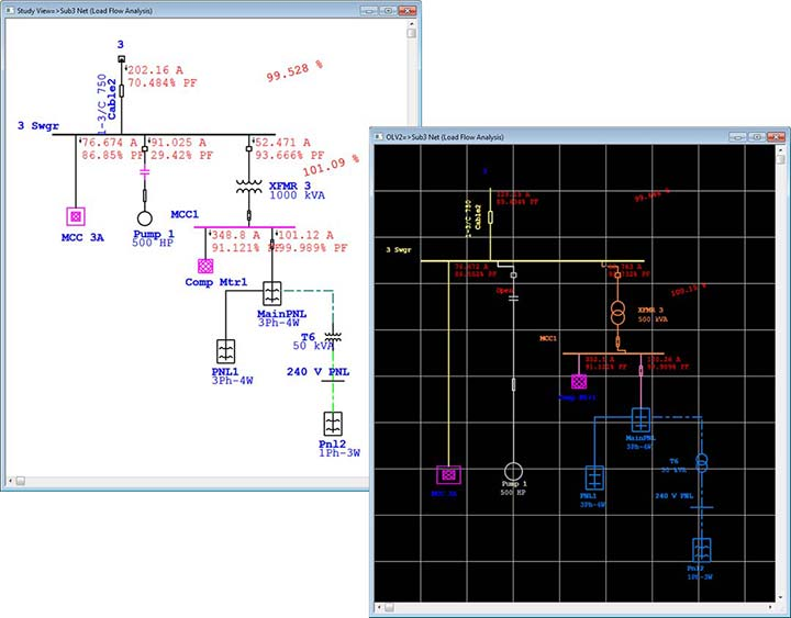 electrical one line diagram software 2003 toyota celica gts stereo wiring modeling | engineering power systems
