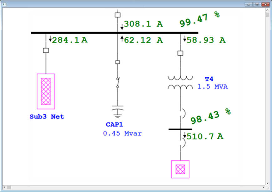 Electrical Single Line Diagram Intelligent One Line Diagram ETAP