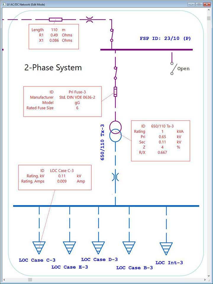 Electrical Single Line Diagram Intelligent One Line Diagram ETAP