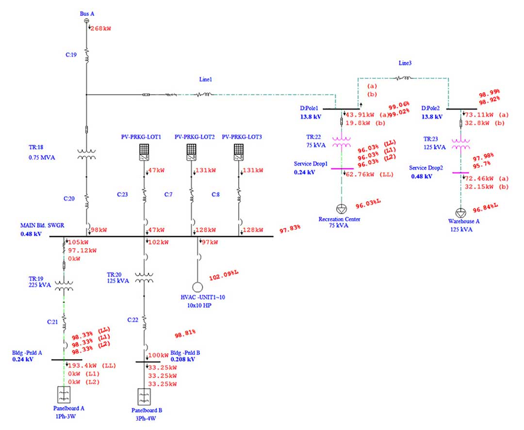 photovoltaic array analysis 2 pv wiring diagram turcolea com 3 Line Diagram PV Optimizers at n-0.co