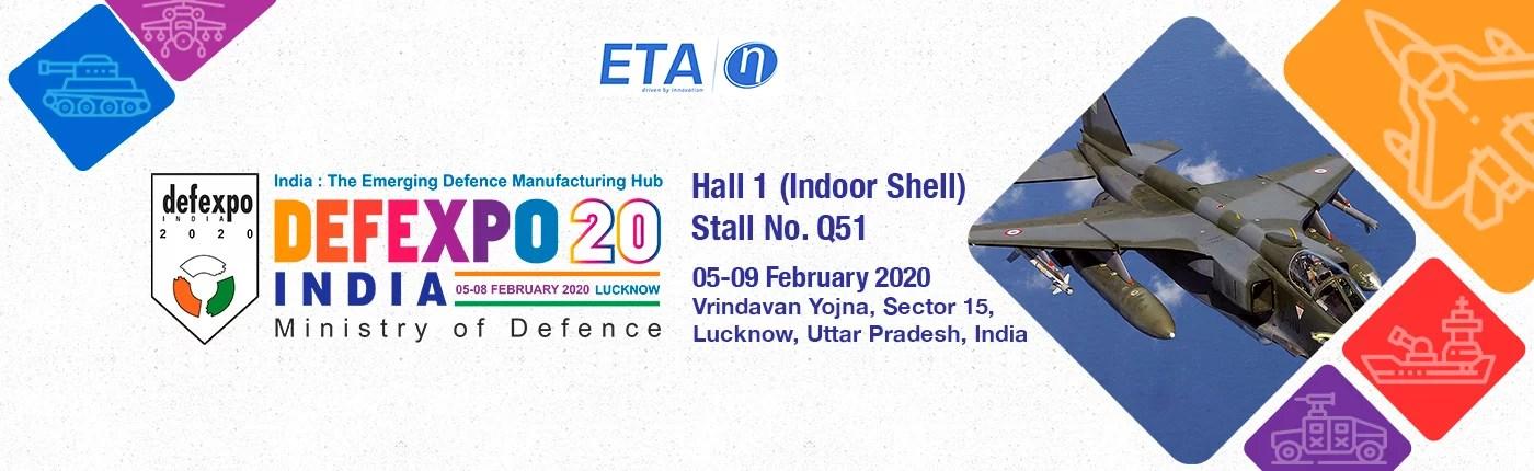 ETA Technology at DEFEXPO 2020, Lucknow, India