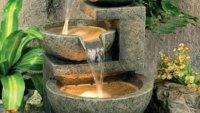 Outdoor Water Fountains Features Garden Pots Statues Wind ...
