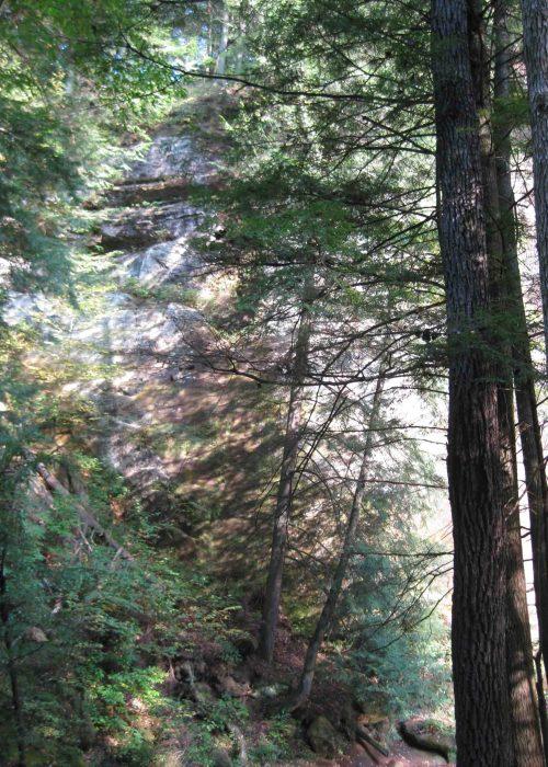 cedar falls in hocking hills state park in southeastern ohio