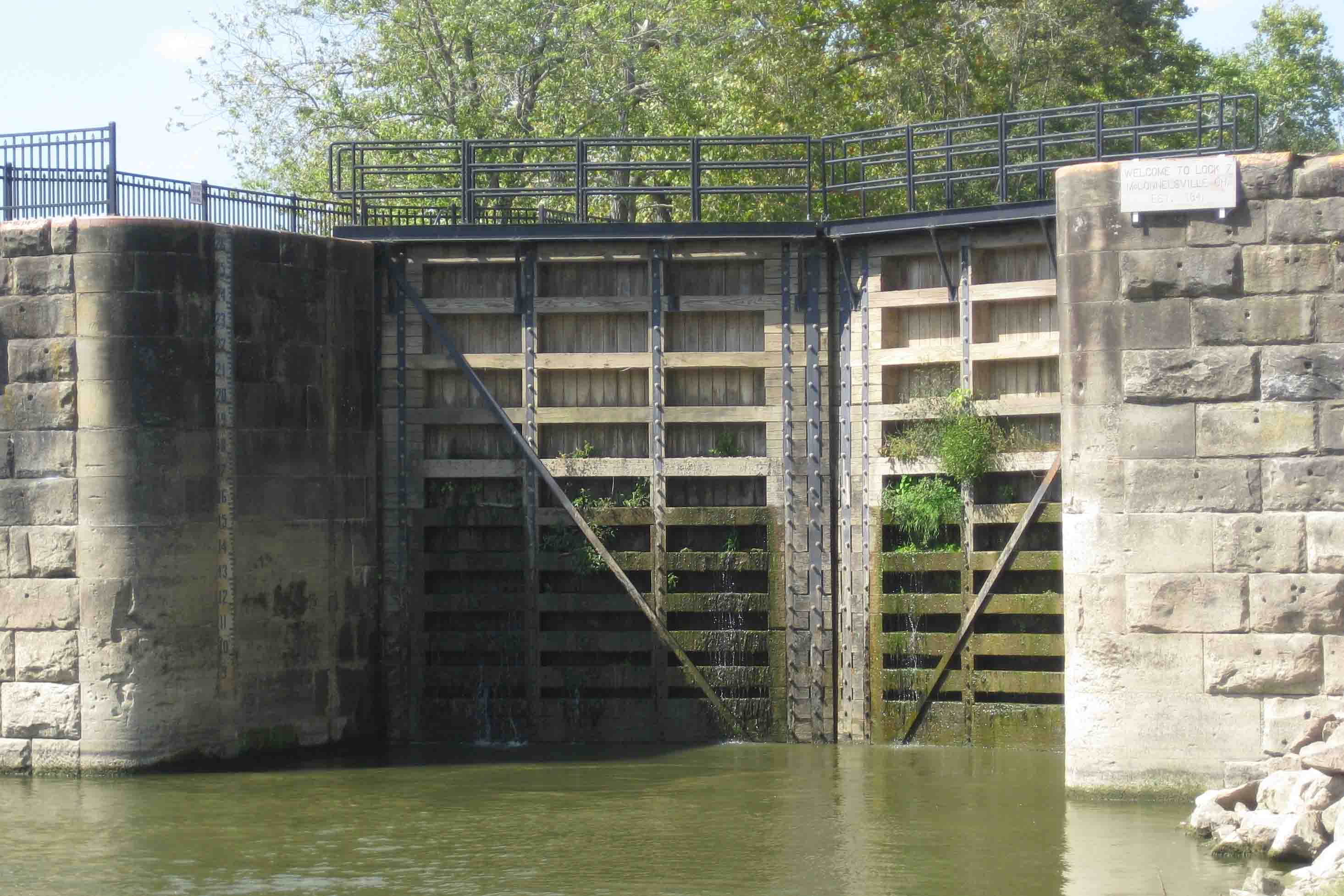 McConnelsville lock in southeastern ohio