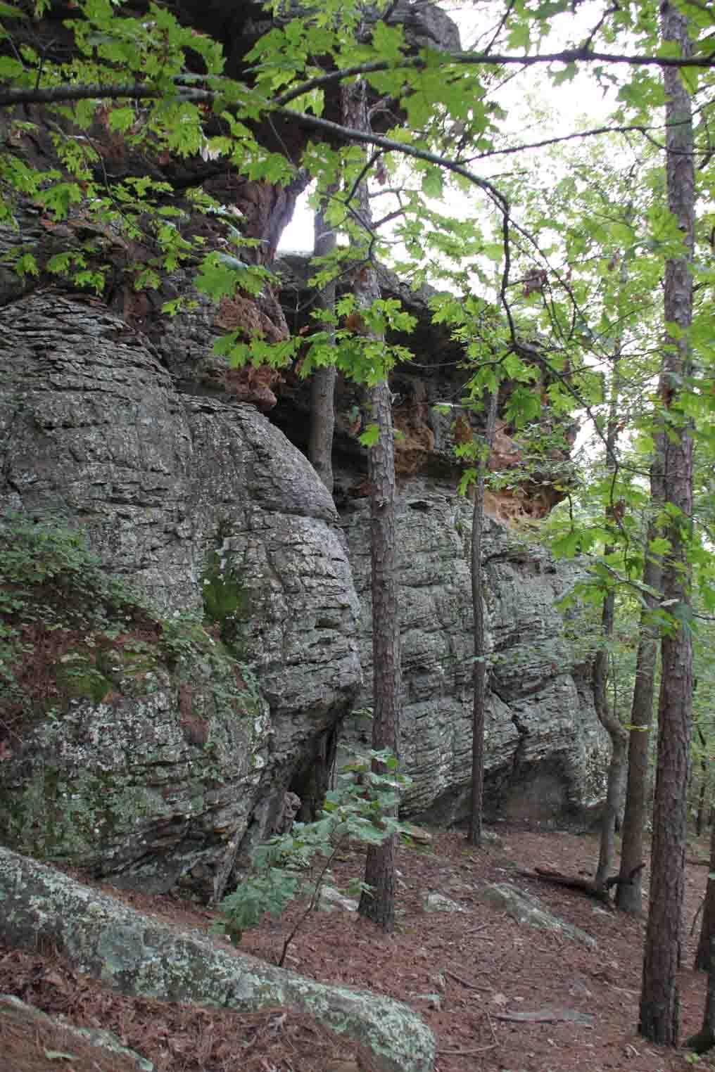 Pedestal Rock formations in Ozark National Forest