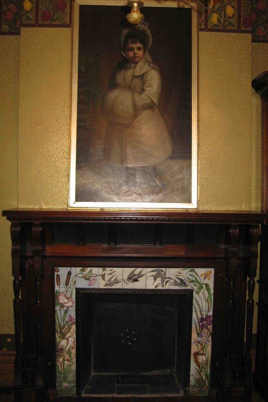 fireplace at the frederic remington art museum