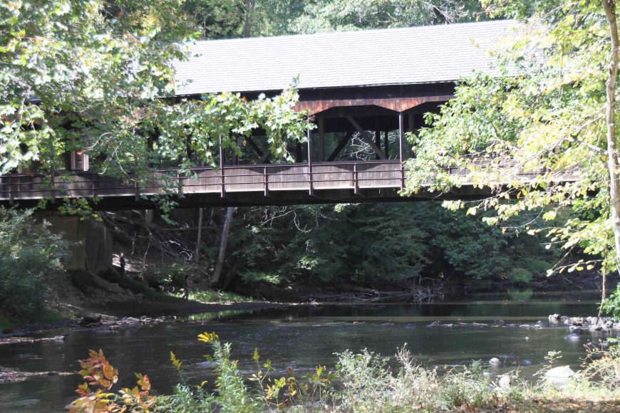 covered bridge in mohican memorial state forest