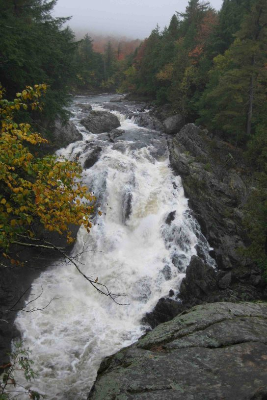 waterfall in the adirondack mountains