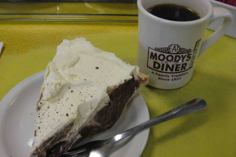 famous pie at Moody's Diner