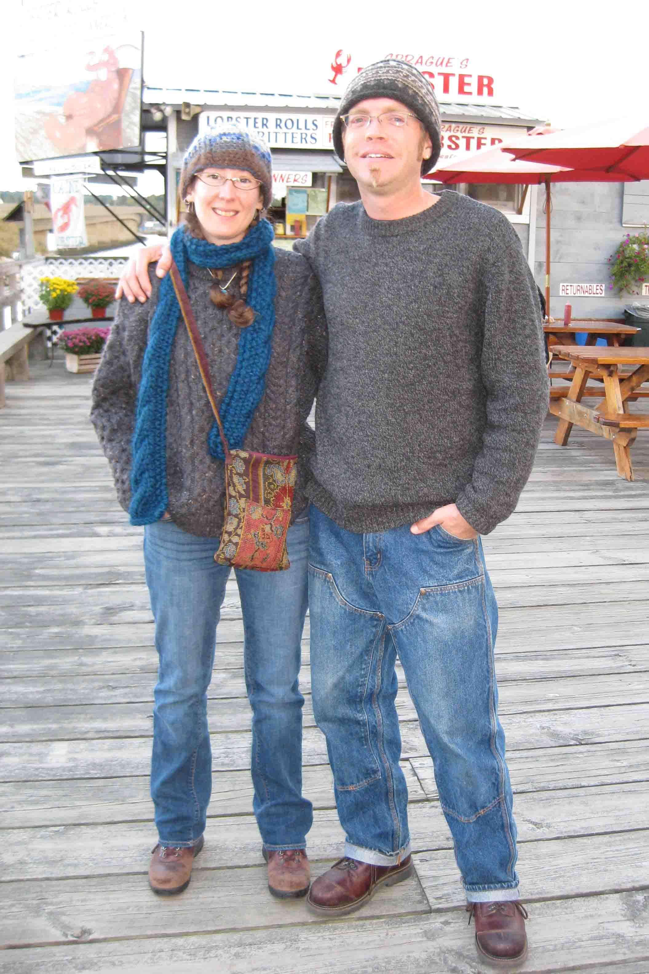 tea and john at Sprague's Lobster