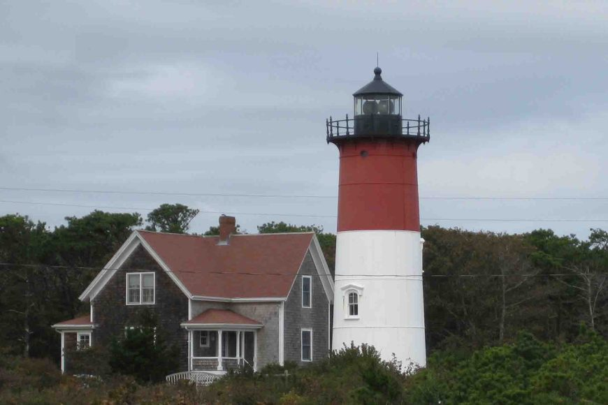 the nauset light on cape cod national sea shore