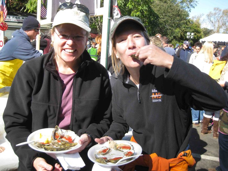 lise and I at the wellfleet oyster fest