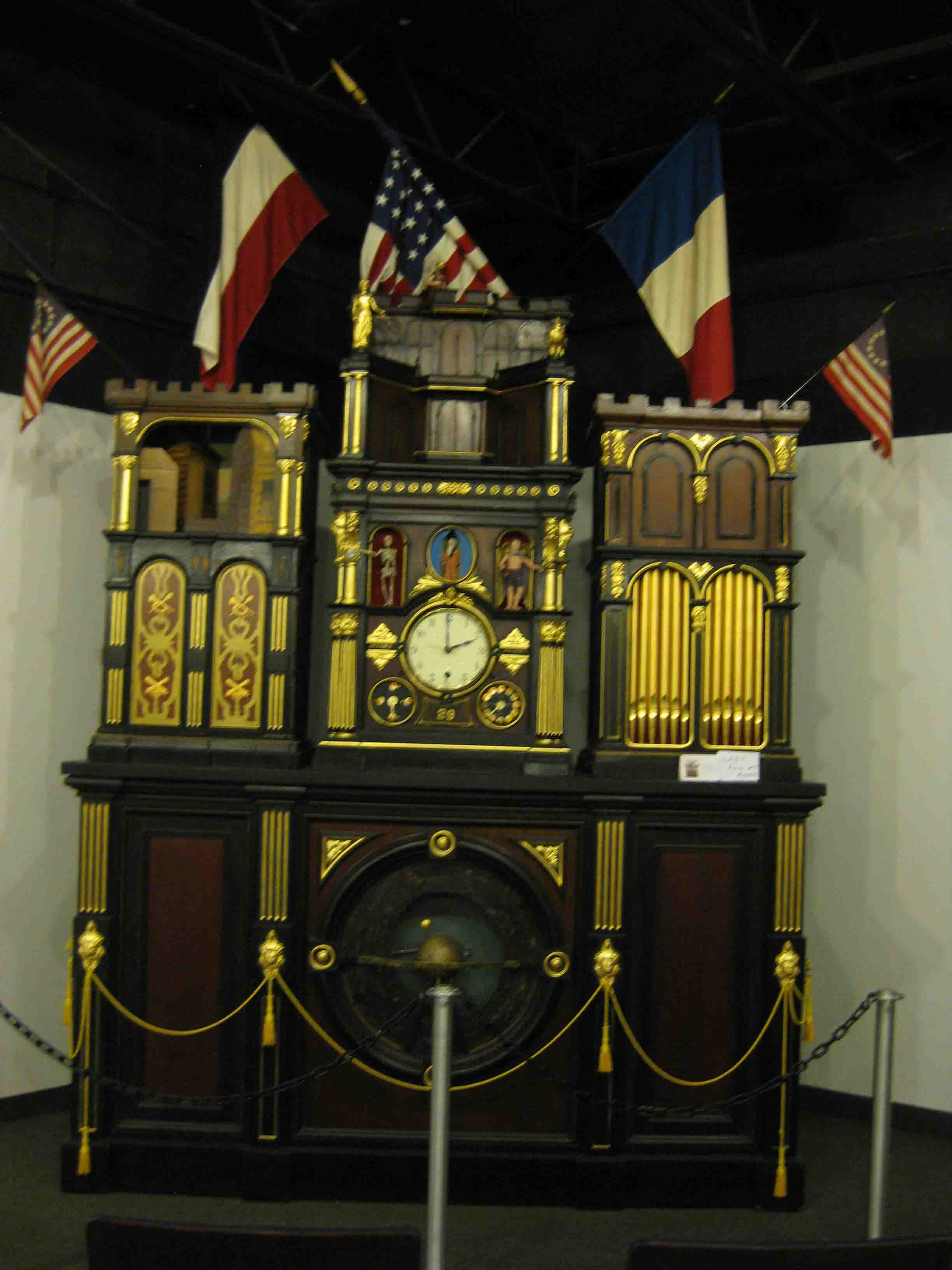 monumental clock at the watch and clock museum