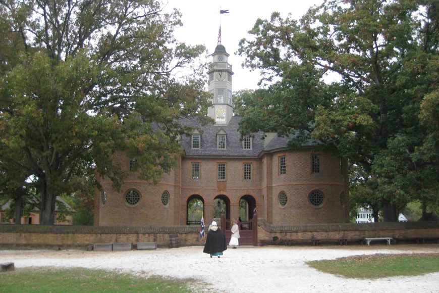 the old capitol in williamsburg