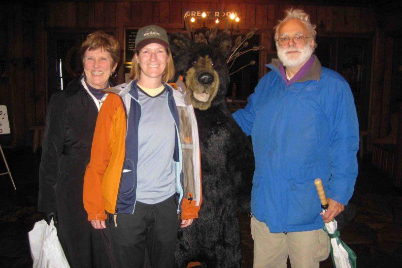 Ellie, Matt and I at Big Meadow Lodge in Shenandoah National Park