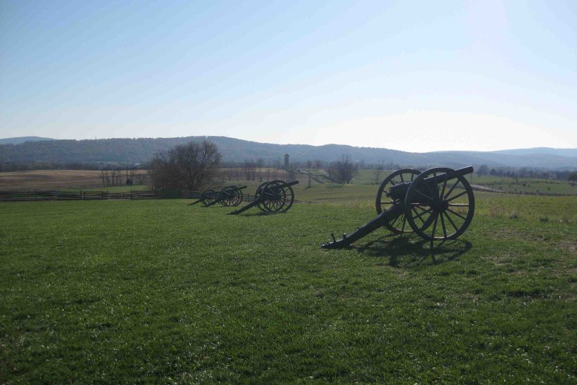 canons at antietam national battlefield in Maryland