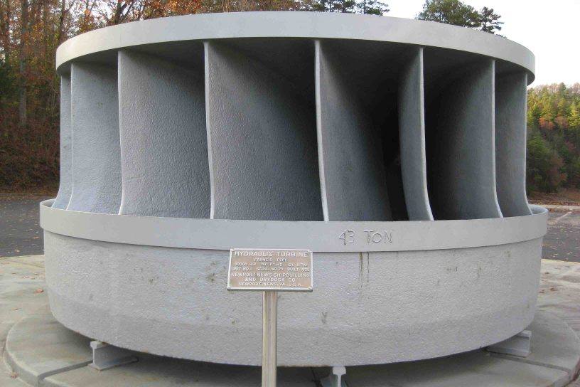 Hydraulic turbine at Hiwassee Dam in North Carolina