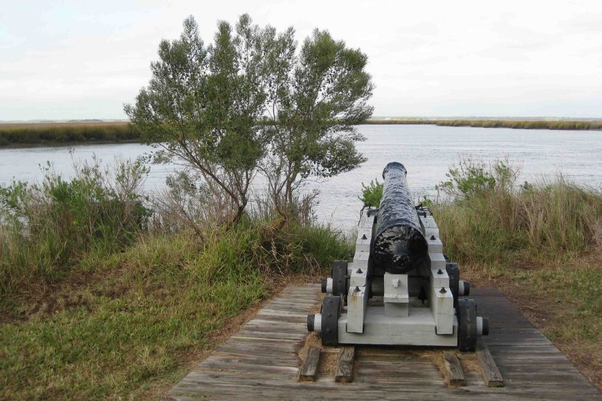 canon at fort frederica national monument