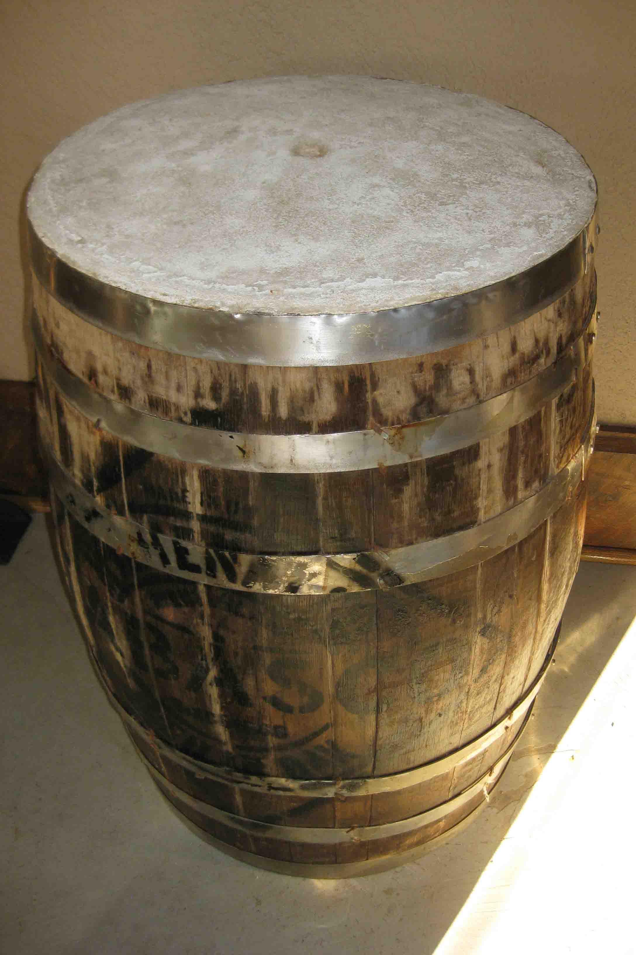 oak barrel at tabasco on avery island, louisiana