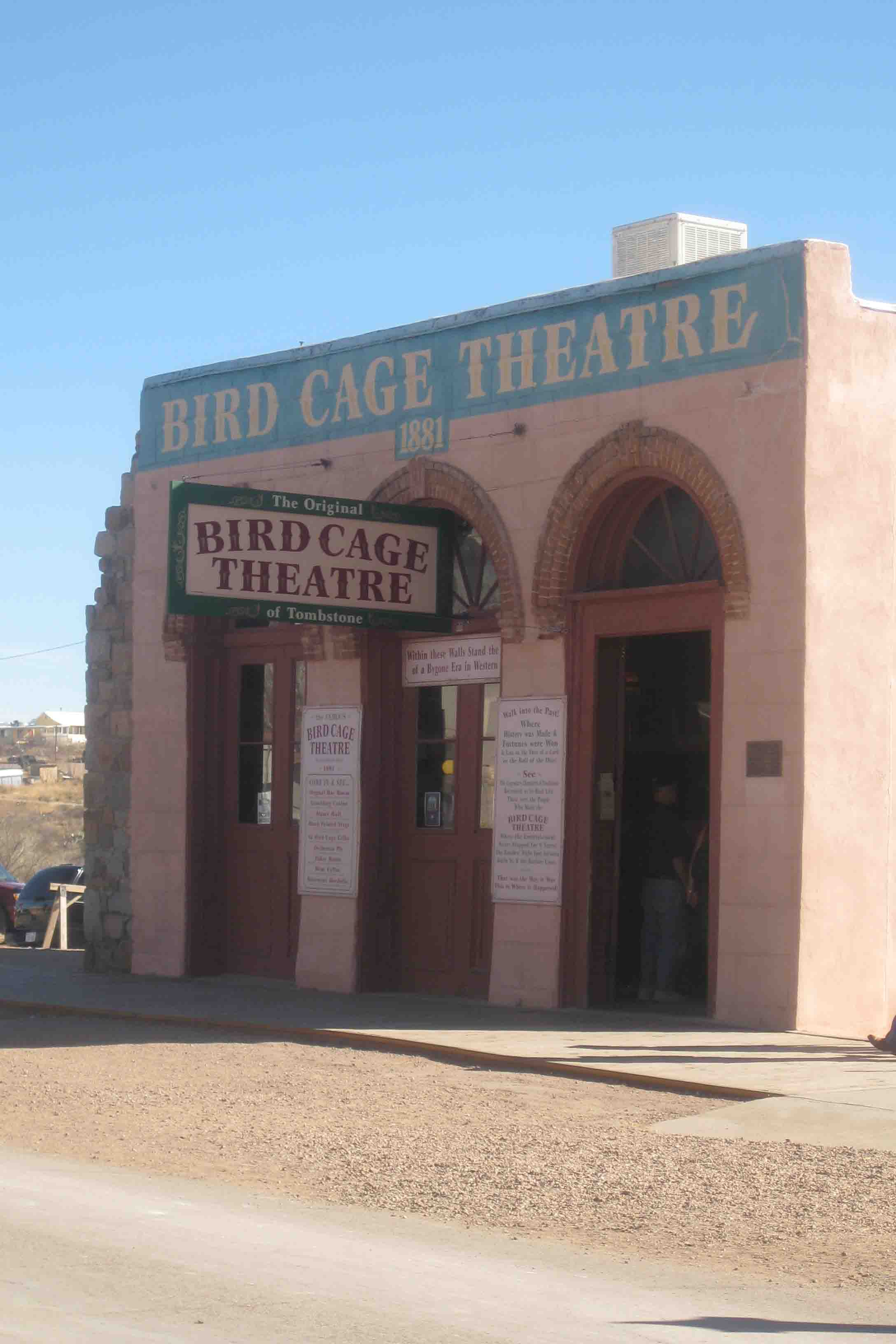 bird cage theatre in tombstone