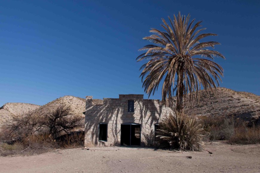 post office  at the hot springs historic district in Big Bend