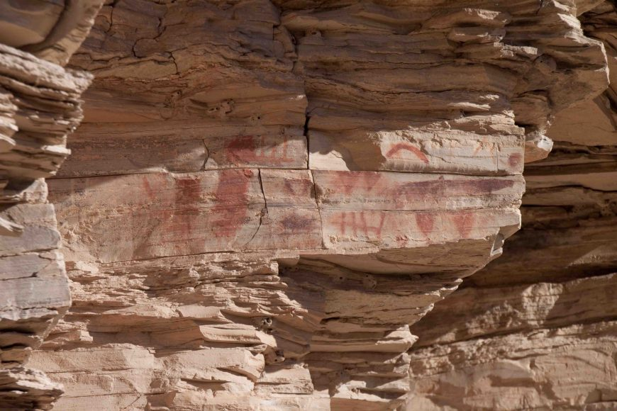 pictograph at  at the hot springs historic district in Big Bend
