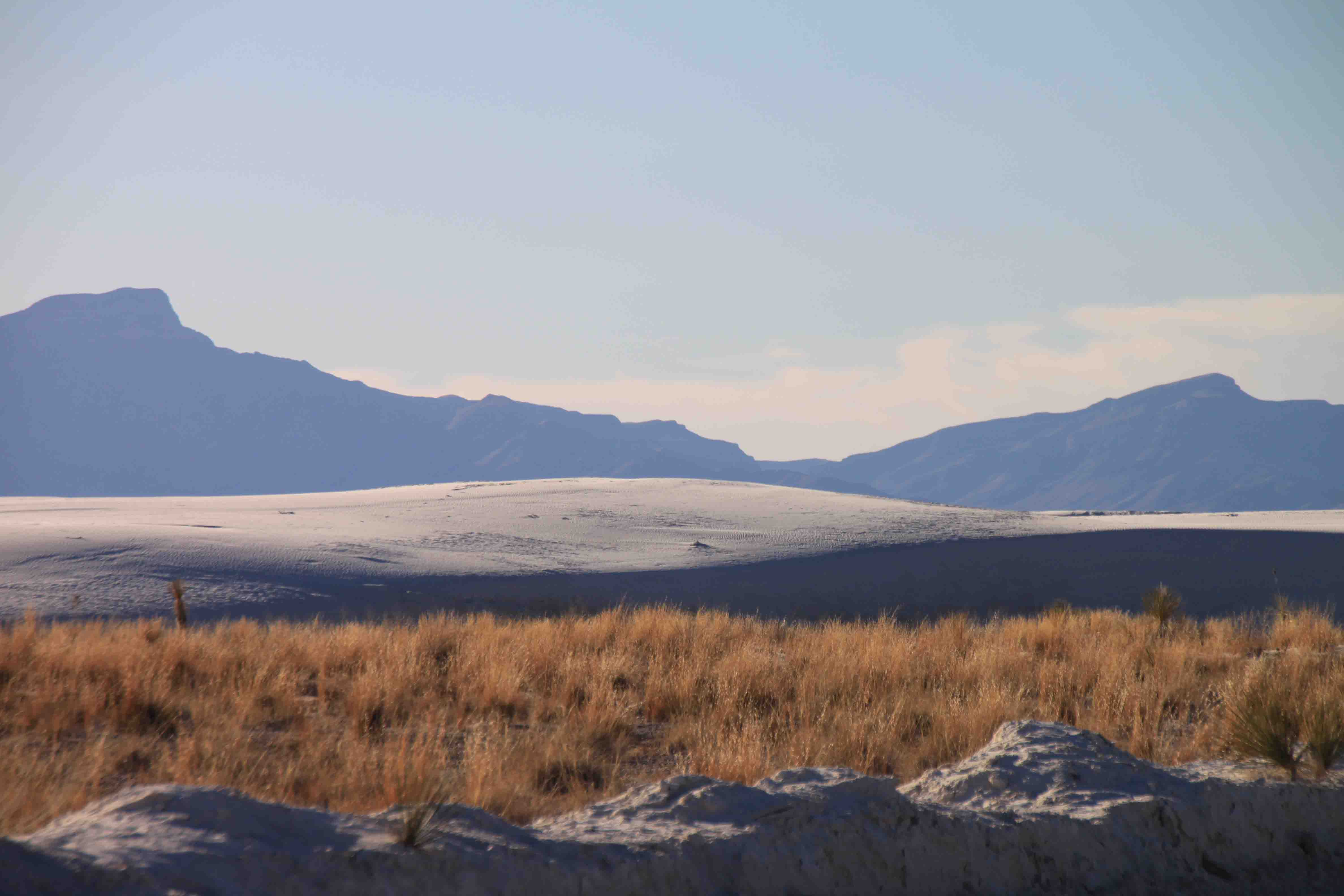 view at white sands national monument
