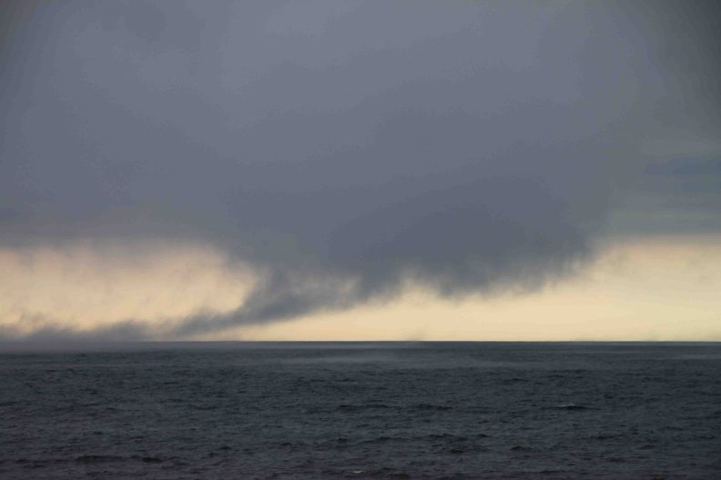 storm clouds over north shore of lake superior