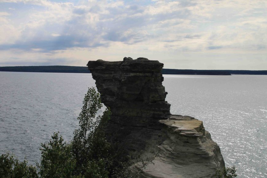 miners castle in pictured rocks national lakeshore