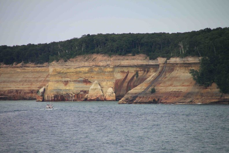 pictured rocks national lakeshore on Michigan's upper peninsula