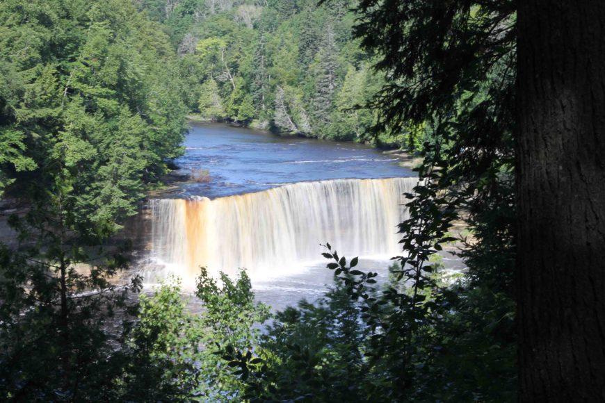 tahquamenon falls in Michigan's Upper Peninsula