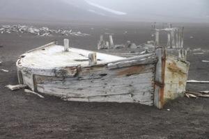boat, deception island, antarctica