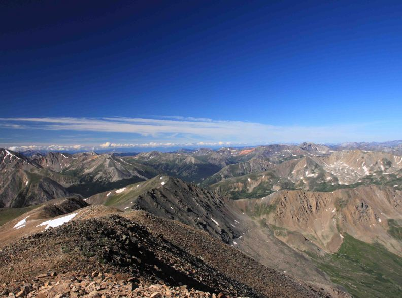 view from the summit of mt elbert